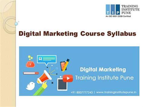Mba Digital Marketing Syllabus by Digital Marketing Syllabus Authorstream