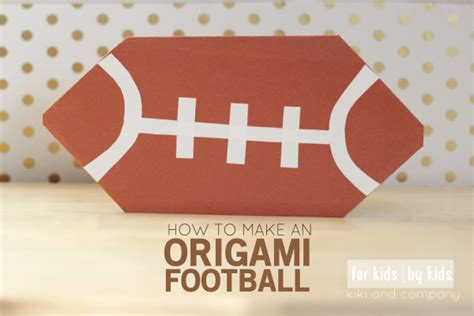 How To Make An Origami Football - 15 best photos of origami paper football how to make a
