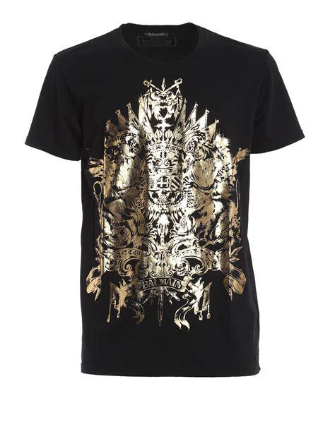 T Shirt Print Astolfo golden print t shirt by balmain t shirts ikrix