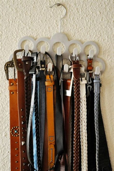 Organize Closet Diverse Storage Ideas For Your Belts