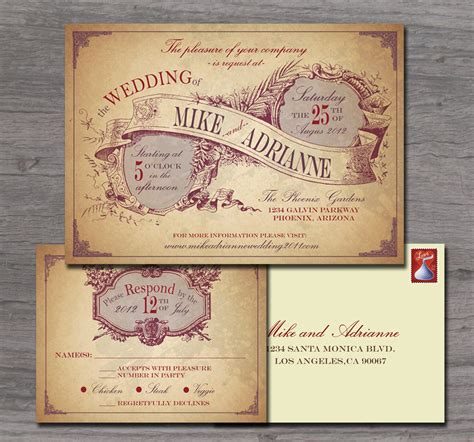 Country Themed Wedding Invitations by Rustic Country Wedding Invitation Sle Set By