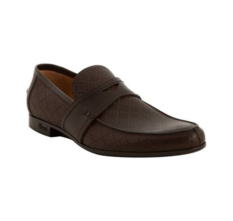 gucci slip on loafers gucci brown diamante slip on loafers in brown for
