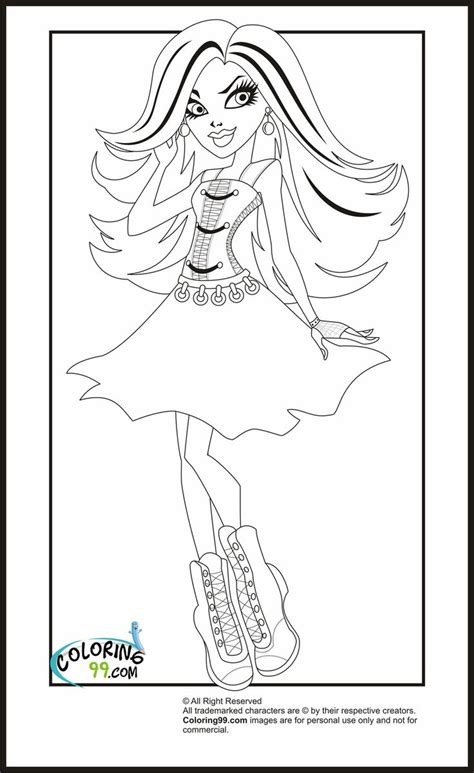 monster high print out coloring pages just for kayle