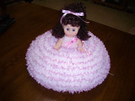 bed dolls knitted lace bed doll for breast cancer