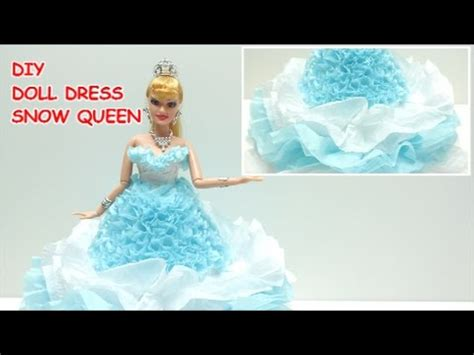 How To Make A Paper Doll Dress - how to make a doll dress costume snow for