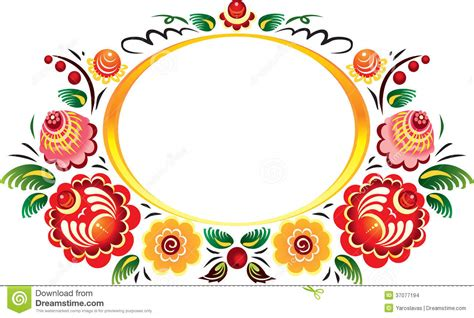 flower frame stock images image 37077194