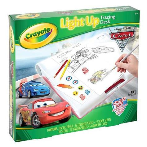crayola light up board crayola cars 2 light up tracing drawing desk childrens