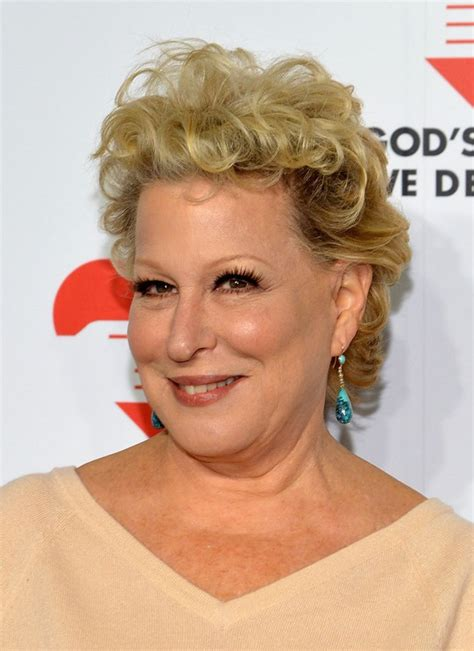 curly hairstyles over 60 bette midler tousled curly hairstyle for women over 60