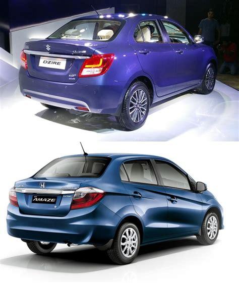 Maruti Suzuki Amaze Price New 2017 Maruti Dzire Vs Honda Amaze Price