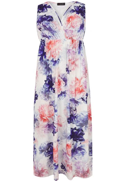 And Color Icon Blush Chagne Blushon Blush On multicoloured floral slinky jersey maxi dress plus size