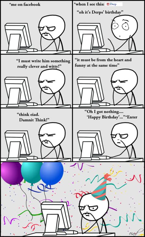 Meme Comic Facebook - facebook at birthday meme comics