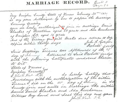 Free Marriage Records Kansas Surname Links Archives Page 9 Of 17 Eight Roads To Montana