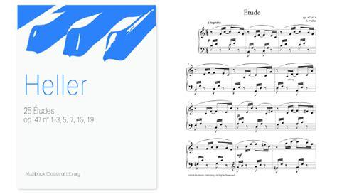 Buku Piano Heller Op 47 201 tudes faciles pour piano muzibook fr partitions pour