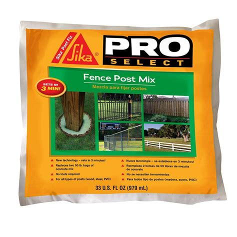 Picture Window Treatments by Sika 33 Fl Oz Fence Post Mix 483503 The Home Depot