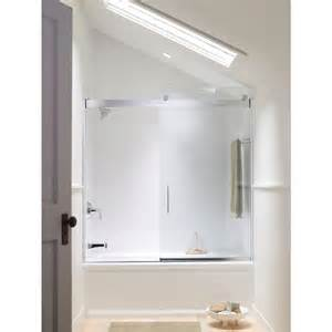 kohler frameless sliding shower doors kohler levity 59 5 8 in x 59 3 4 in semi frameless
