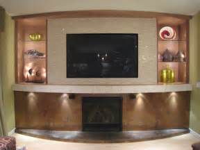 Kitchen Designers In Maryland family room tv and fireplace wall with hidden storage