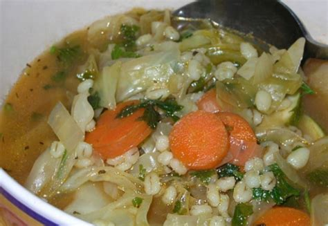 Cooking Barley Measurements Veggie Barley Soup 2 Smartpoints Points Recipes