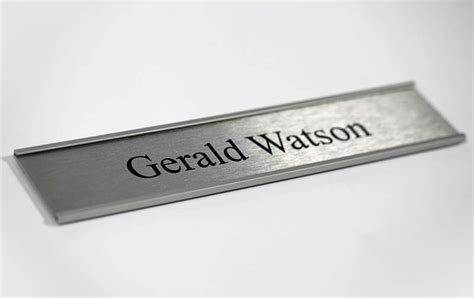 Office Name Plates by Corporate Door Signs Silver Bankers Office Sign Silver