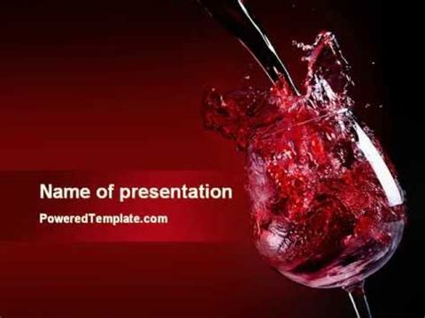 powerpoint templates free wine fantastic red wine powerpoint template by poweredtemplate