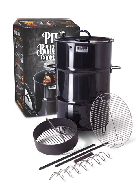 Pit Barrel Cooker The 1 Barrel Smoker Grill On The Market Pit Barrel Cooker Smoker 30 Gallon Steel Drum Charcoal Bbq Grill Barbecue New Ebay