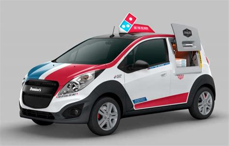domino pizza delivery a domino s pizza delivery car with its own oven wordlesstech
