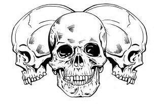 unique skull tattoos skull tribal tattoo design 227