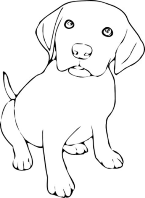 puppy clipart black and white free black and white clipart