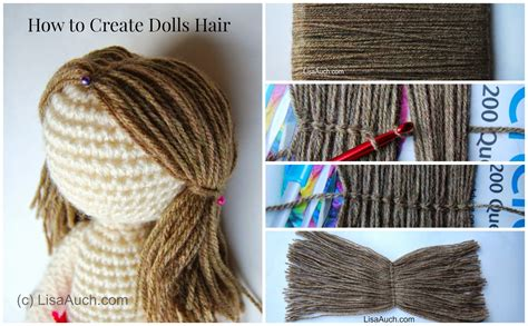 Hairstyle Books For Dolls by How To Crochet Dolls Hair Easy Free Crochet Patterns