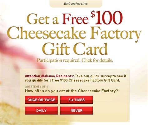Discount Cheesecake Factory Gift Cards - free cheesecake factory coupons