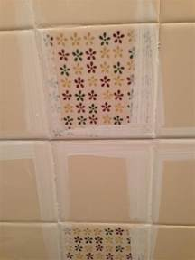 How To Remove Tile Paint From Bathroom Tiles by The Learner Observer Painted Tile A Washroom Makeover