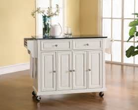 white kitchen cart island crosley furniture solid black granite top kitchen cart