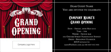 corporate invitations grand opening