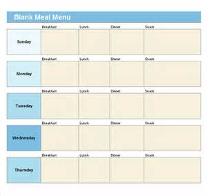 Empty Menu Templates by Sle Blank Menu Template 21 In Pdf Psd Eps