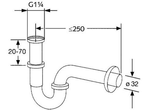 sanliv wash basin or bathroom sink drain p trap pop up