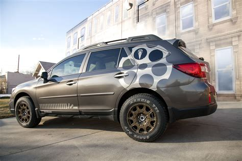 subaru outback decals we spruced up this subaru outback for a customer last week