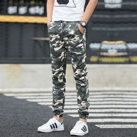 St 2pc Army Green Yellow mens joggers camouflage cargo cool army casual trouser hip hop fashion
