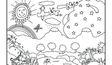 Day 7 Coloring Page by Adorable 7 Days Of Creation Coloring Pages Artsybarksy