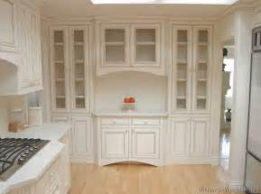 White Kitchen Hutch Cabinet by Pictures Of Kitchens Traditional Off White Antique