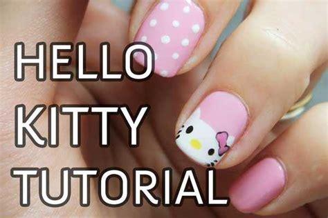 imagenes de uñas decoradas hello kitty u 241 as decoradas con hello kitty paso a paso nailistas