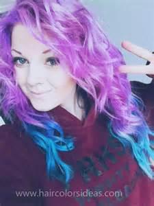 Purple blue hair dip dyed 4 hair colors ideas