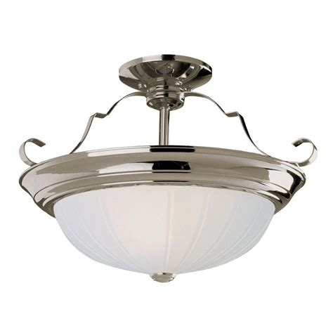 Semi Flush Mount Ceiling Light Brushed Nickel Bel Air Lighting Stewart 3 Light Brushed Nickel Cfl Ceiling Semi Flush Mount Light Pl 13215 Bn
