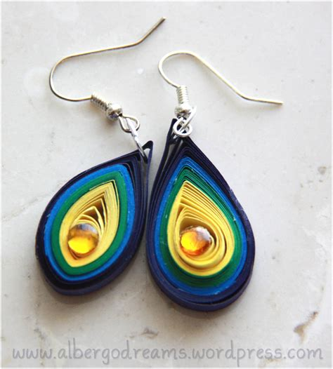 Quilling Paper Earring - quilled earrings 2 albergo dreams