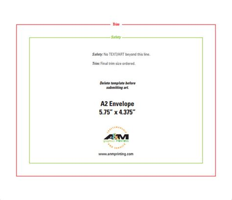 a2 size card template a2 envelope template 7 free documents in pdf