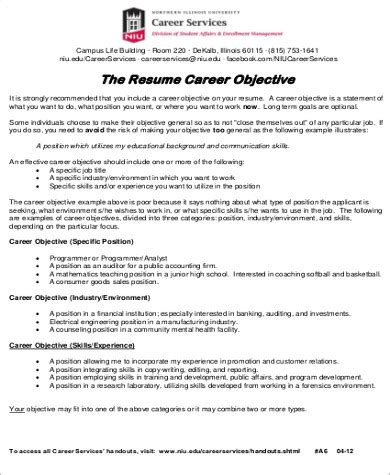 sle resume objectives for internships objective section of resume for internship 28 images