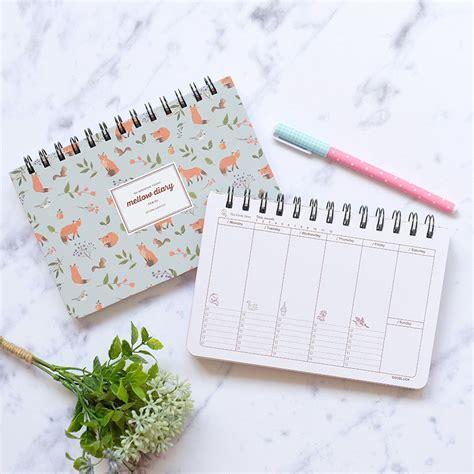 jual mellow diary weekly planner buku agenda pinkabulous