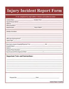 post incident report template injury incident report template money receipt template