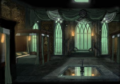 Slytherin Bedroom by Hogwarts School Of Witchcraft And Wizardry Sigh Up Chat