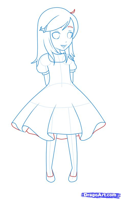 dress drawing pencil and in color dress drawing