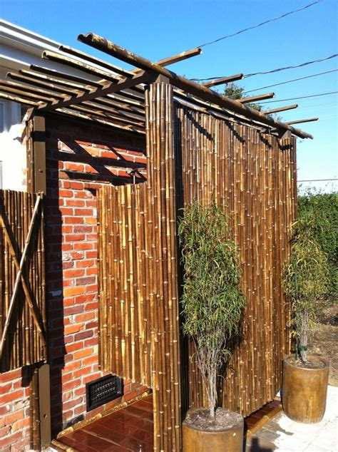 outdoor bamboo shower outdoor shower ideas diy projects cali bamboo fencing