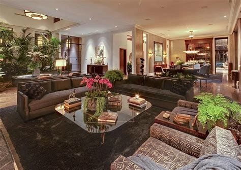 living room in mansion jeremy renner s art deco style house in l a hooked on